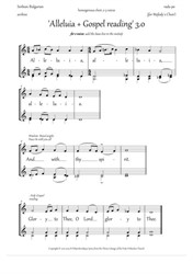 Alleluia and Gospel singing (3.0, Dm, 2-3vx, homog.ch.) - EN